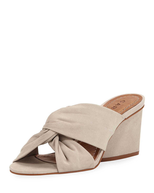 a48ded011ef Carrano Ava Nubuck Leather Slide Sandal