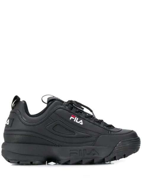 Fila Sneakers Mit Geriffelter Sohle In 12v Black Black