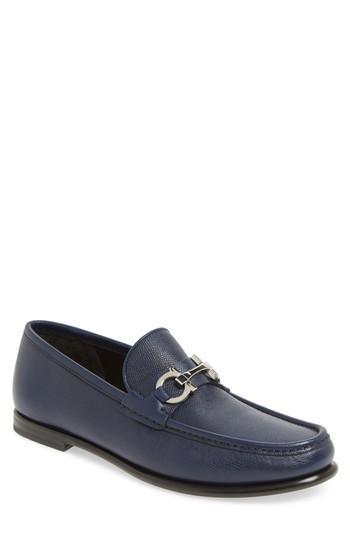 Salvatore Ferragamo Crown Bit Loafer In Electric Blue