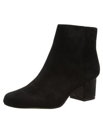 Sam Edelman Edith Suede Mid Heel Booties In Black