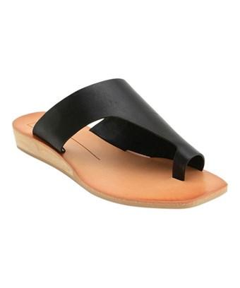 ccc9d7e42512 Dolce Vita Womens Hazle Open Toe Casual Slide Sandals In Black Leather