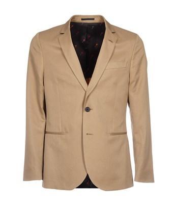 Paul Smith Men's  Beige Cotton Blazer In Brown