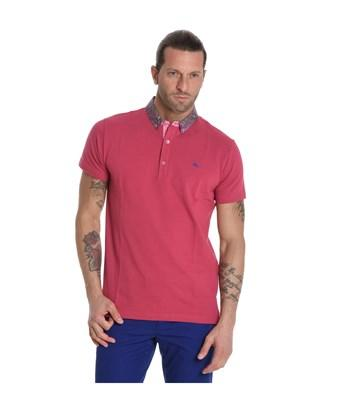 Etro Men's  Pink Cotton Polo Shirt In Red