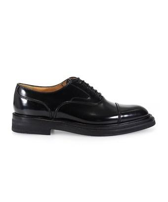 Church's Women's  Black Leather Lace-Up Shoes