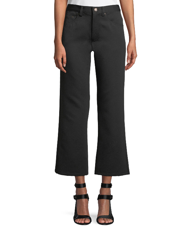 Marc Jacobs High-Rise Flared-Leg Jeans In Black