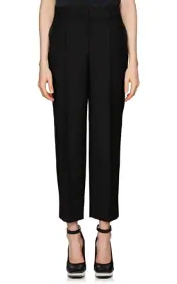 Givenchy Wide-Leg Side-Stripe Satin Tuxedo Ankle Pants In Black