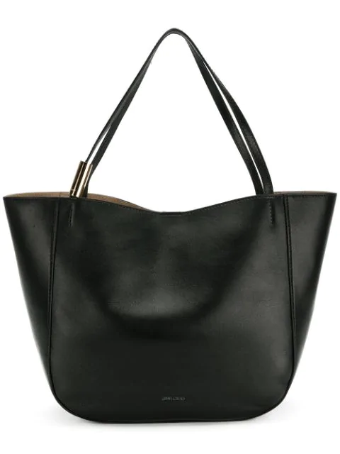 272110c6b71 Jimmy Choo Stevie Tote Black Nappa Leather Tote Bag | ModeSens