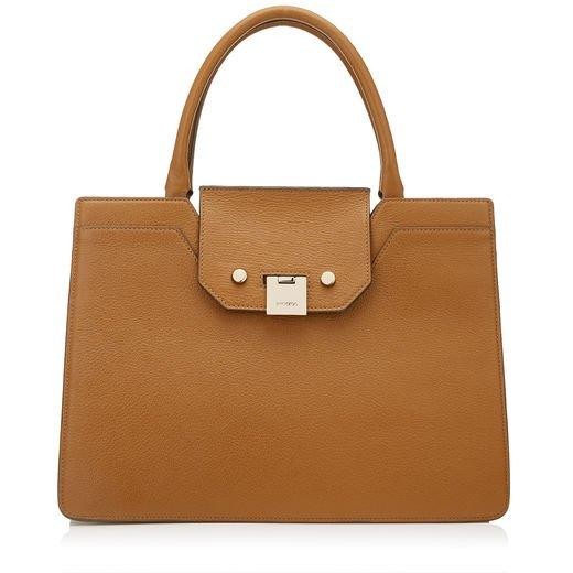 d4dbd357c64 Jimmy Choo Rebel Tote Nutmeg Soft Grained Goat Leather Tote Bag In Brown