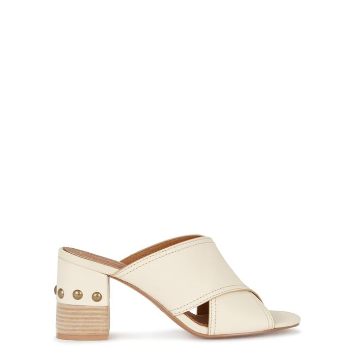 f13e56c0722ea See By ChloÉ Tina Cream Studded Leather Mules | ModeSens