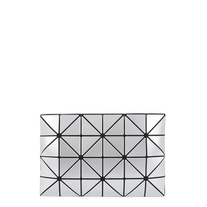Bao Bao Issey Miyake Lucient Silver Pouch