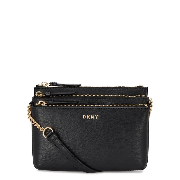 Dkny Sutton Black Leather Cross-Body Bag