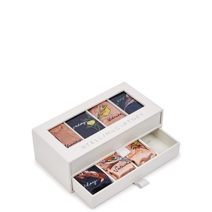 345d26365707 Stella Mccartney Days Of The Week Satin Briefs Box Set In Multicoloured