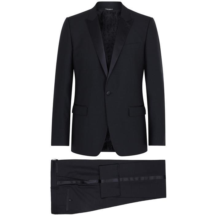 Dolce & Gabbana Navy Wool-Blend Tuxedo