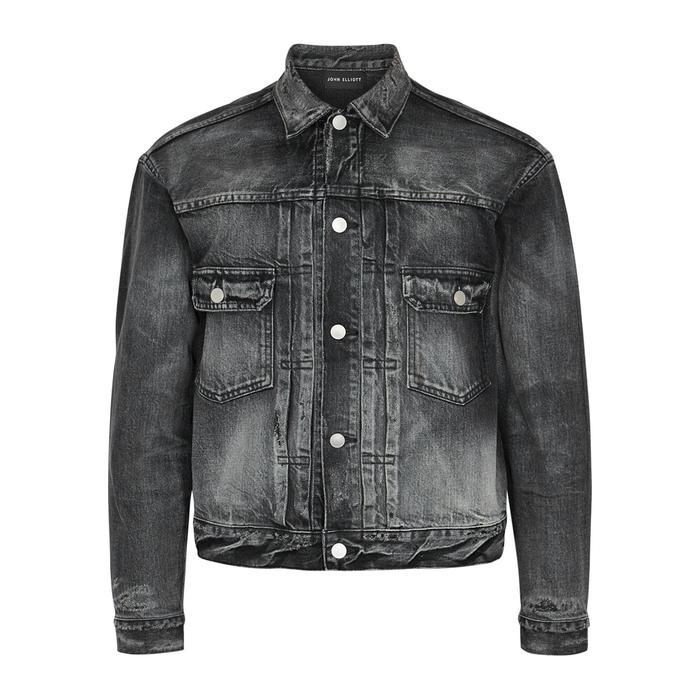 John Elliott Thumper Black Faded Denim Jacket