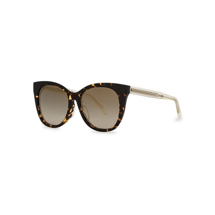 8644767310b Jimmy Choo Alena Tortoiseshell Cat-Eye Sunglasses In Havana