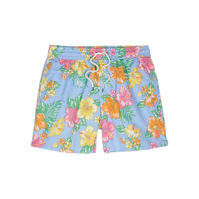 dcedce8bd3c5f Polo Ralph Lauren Light Blue Floral-Print Swim Shorts | ModeSens