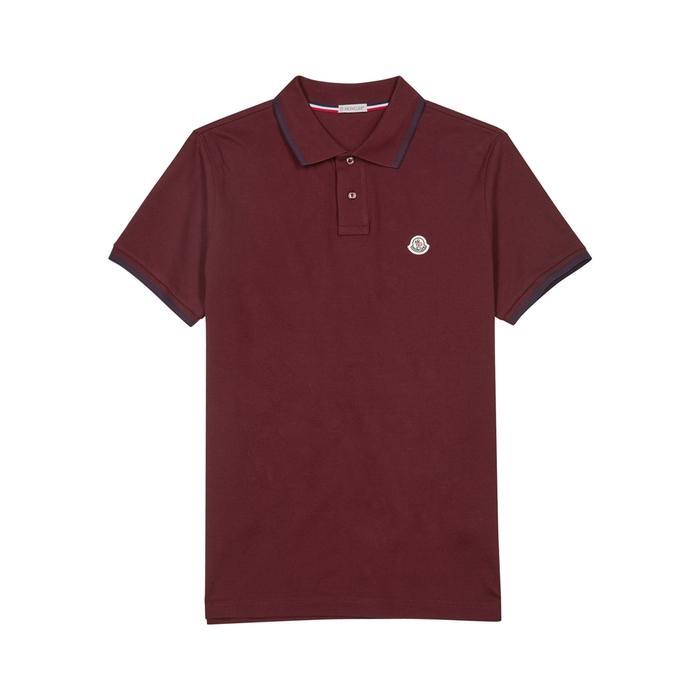3dc295c48 Maglia Piqué Cotton Polo Shirt in Bordeaux