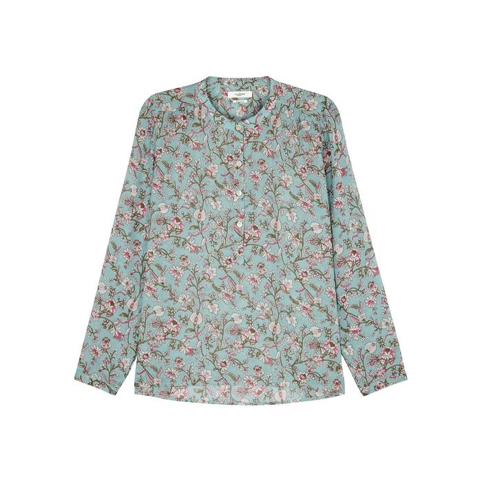 5afa3be932b354 Etoile Isabel Marant Maria Floral-Print Voile Blouse In Green | ModeSens