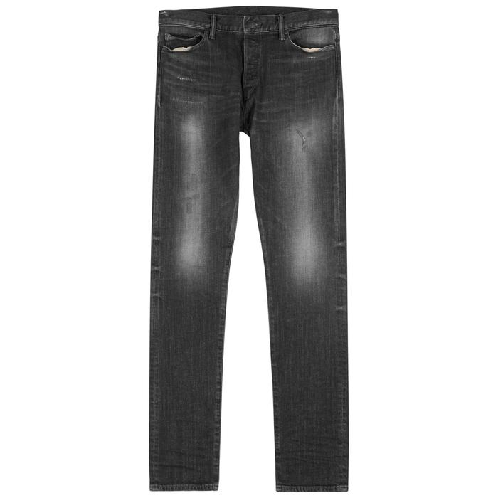 John Elliott The Cast 2 Distressed Skinny Jeans In Black