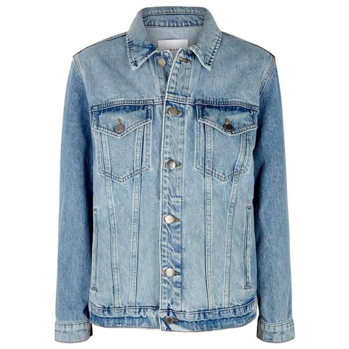 Frame Light Blue Zipped Denim Jacket
