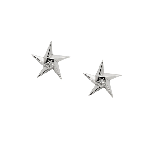 Daou Jewellery White Star Earrings