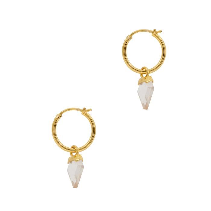 Missoma Shield 18Kt Gold Vermeil Hoop Earrings