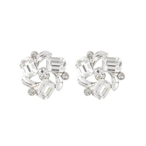 a42c840d29fb4 1950S Vintage Lisner Crystal Clip-On Earrings