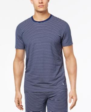 27767c3ac0 Polo Ralph Lauren Men's Terry Stripes Pajama Shirt In Deep Atlantic/ Nevis  Stripe