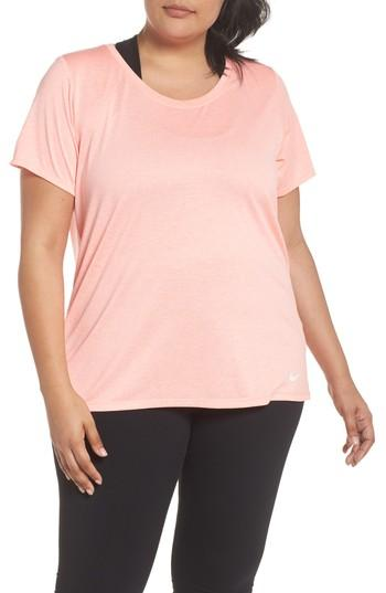 bb46c0d97f0d Nike Plus Size Dry Legend Training T-Shirt In Storm Pink White ...