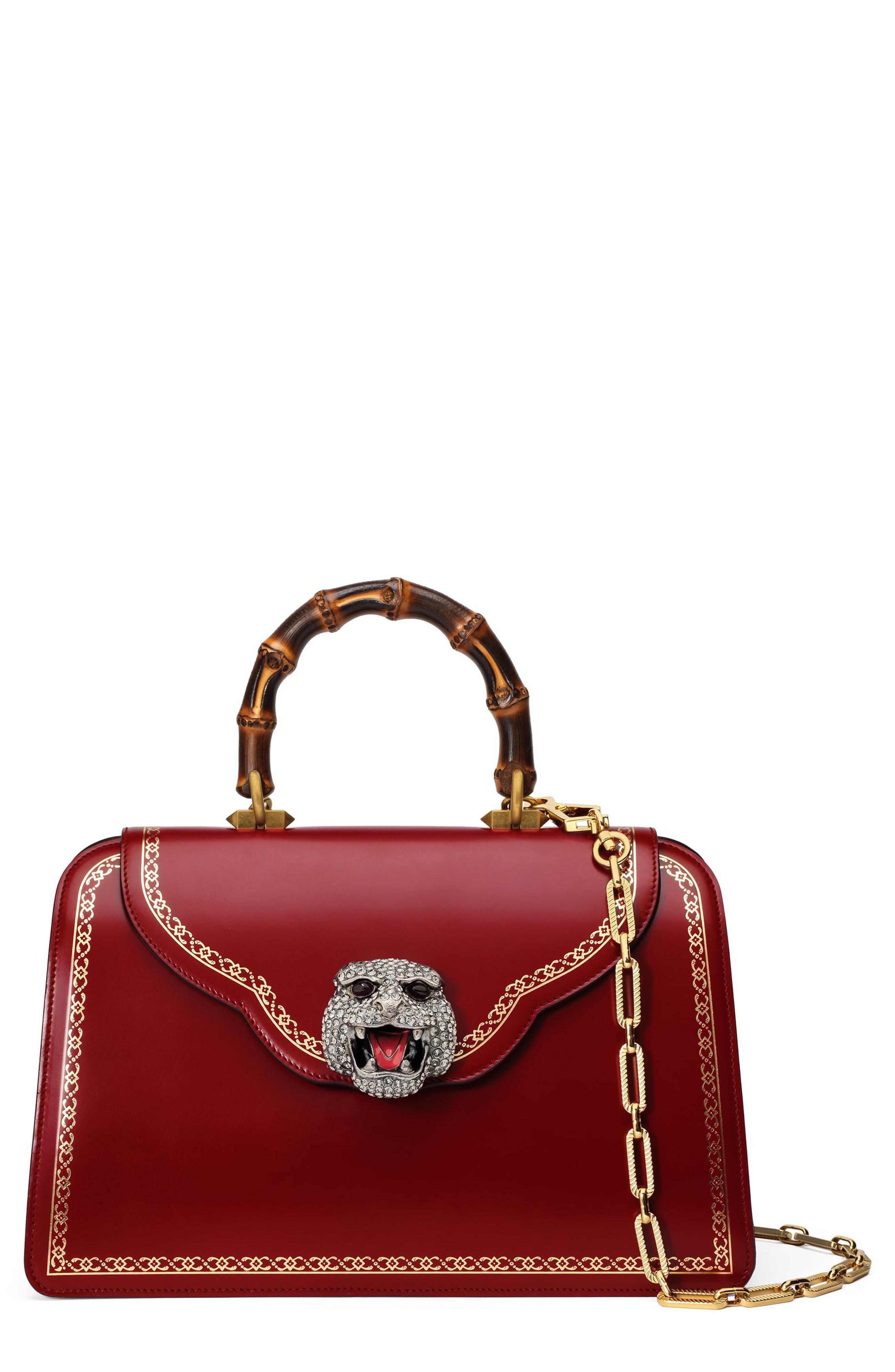 f67d05d8fcd1 Gucci Thiara Medium Leather Top Handle Bag - Red   ModeSens