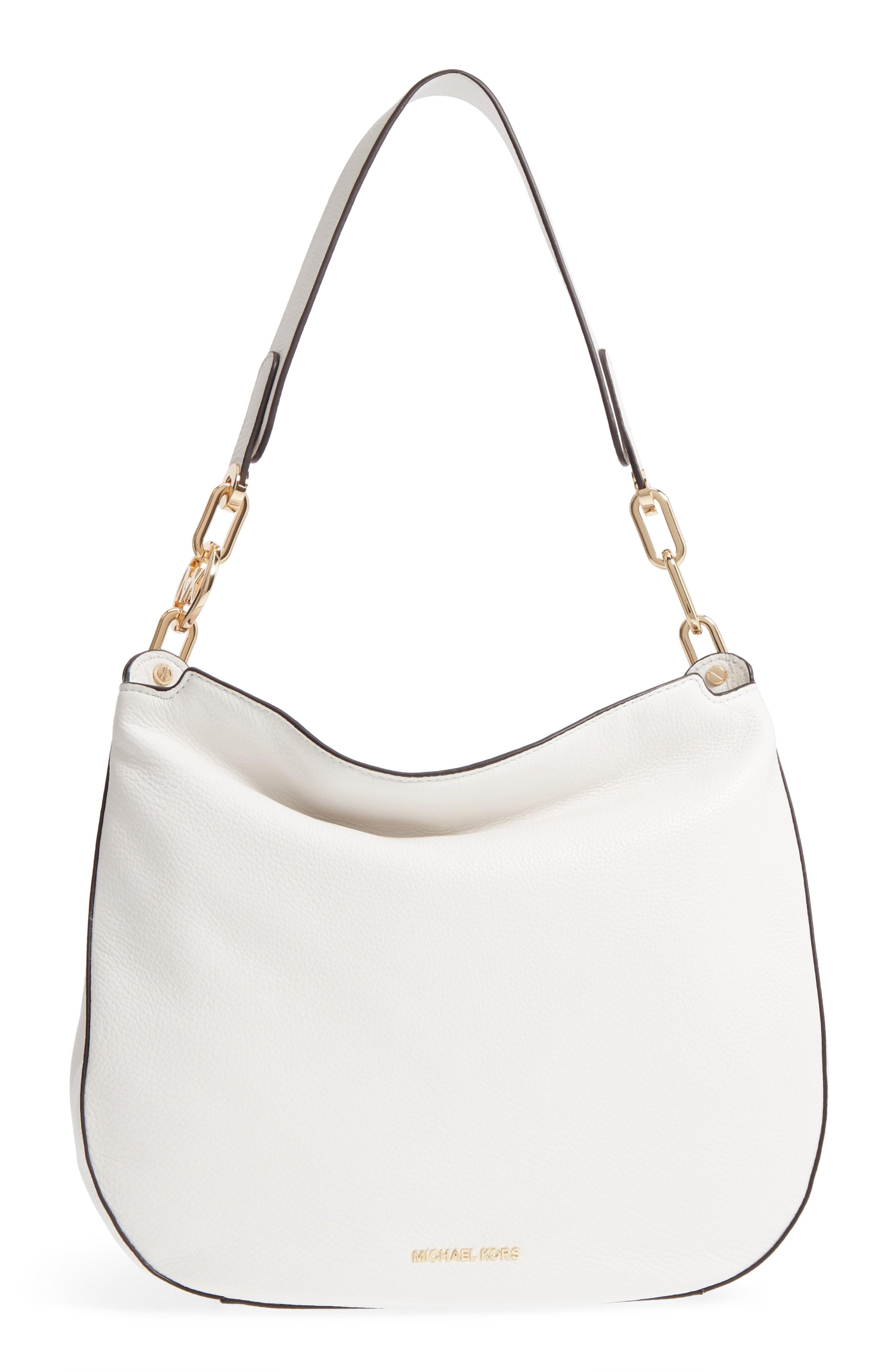 f267470288753d Michael Kors Fulton Leather Hobo - White In Optic White | ModeSens