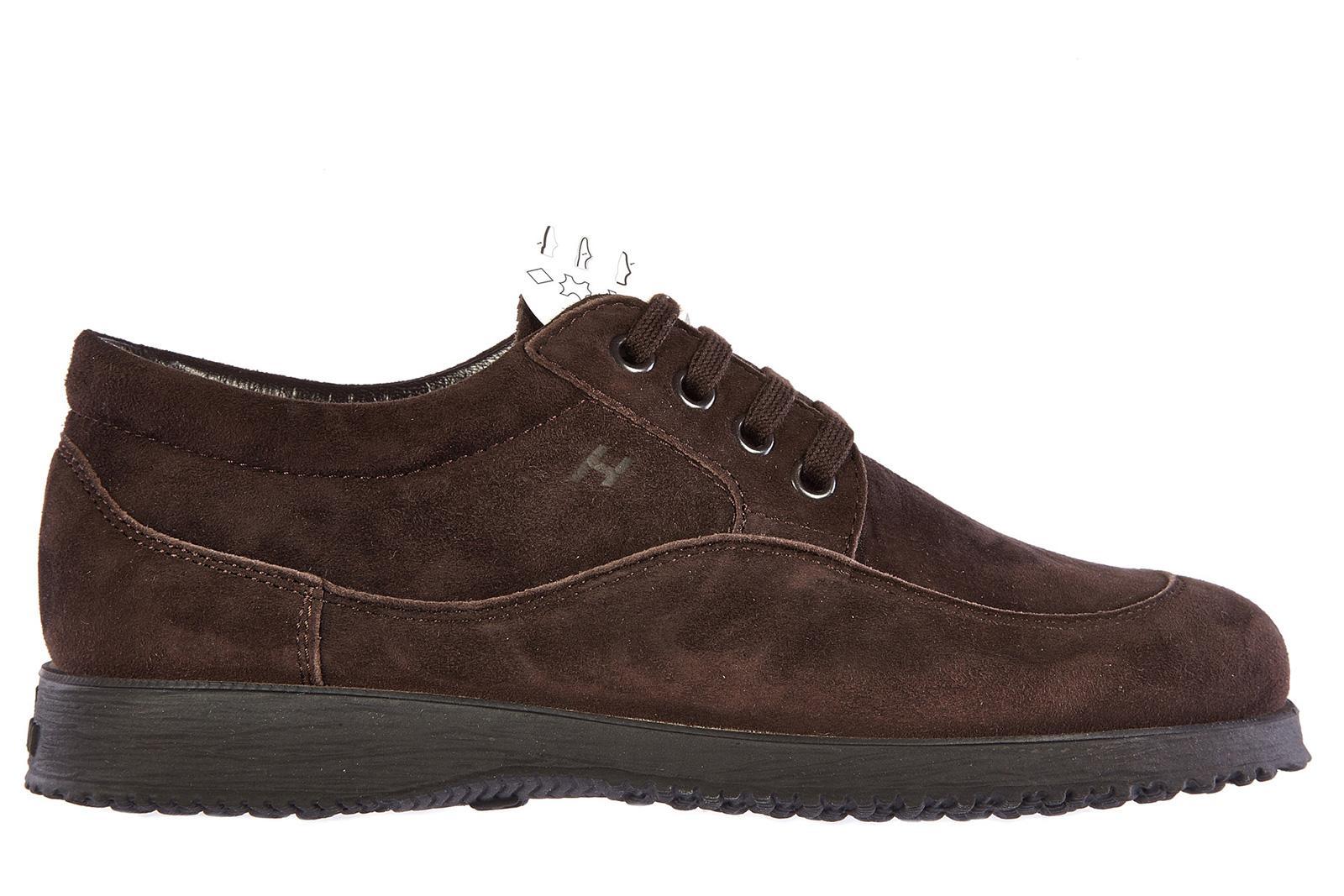 Hogan Damenschuhe Turnschuhe Damen Wildleder Schuhe Sneakers Traditional In Brown