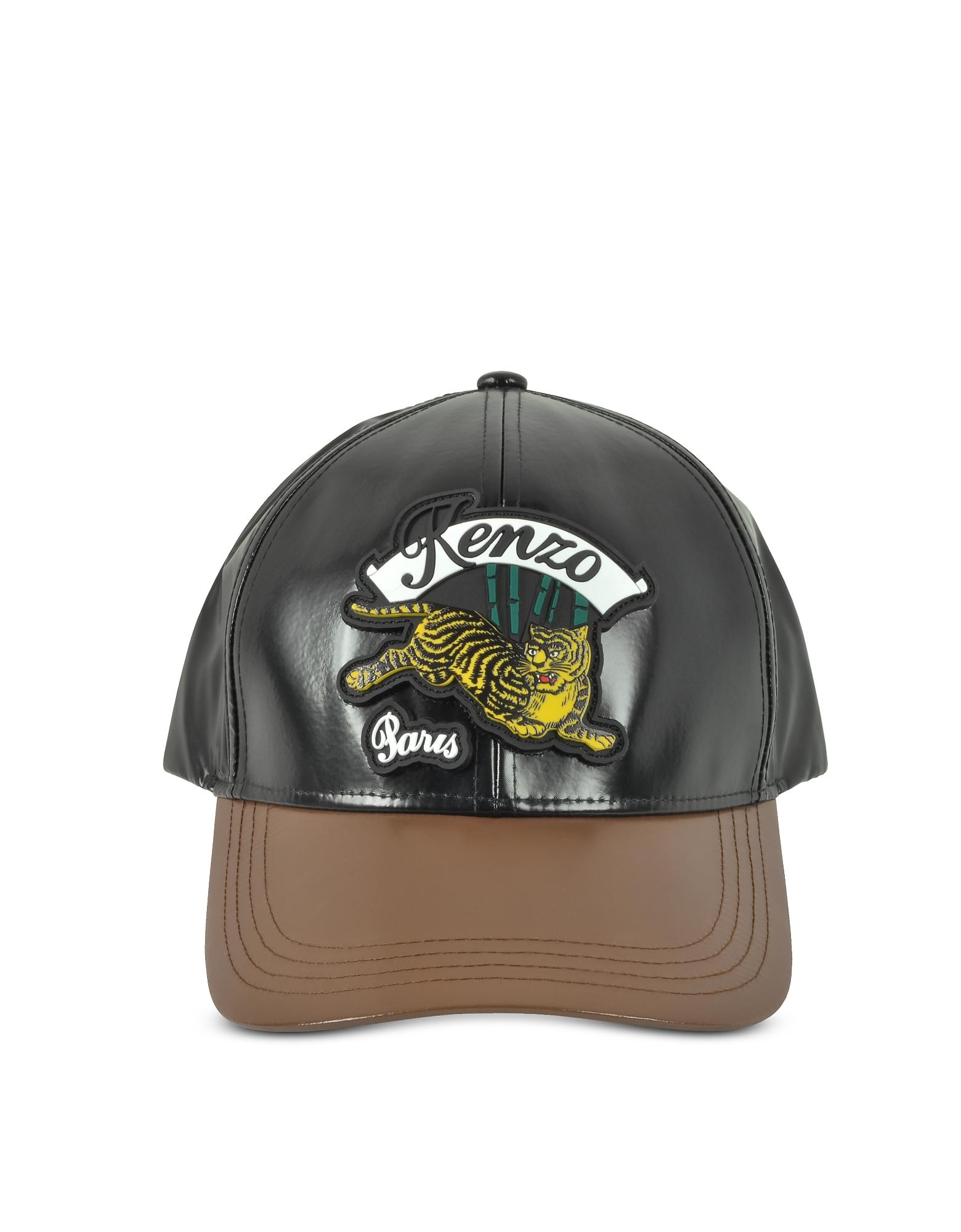 aabb98f2 Bamboo Tiger Baseball Cap in Black