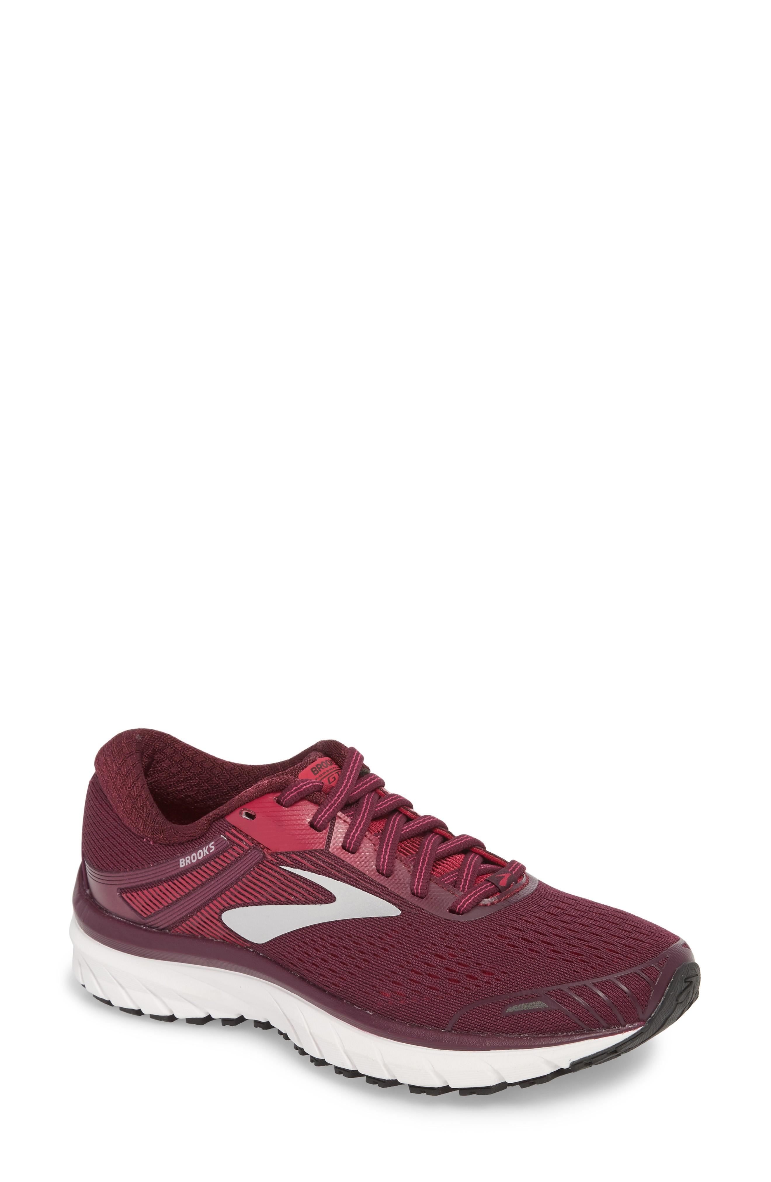 d54dd315bbc07 Brooks Adrenaline Gts 18 Running Shoe In Purple  Pink  Silver