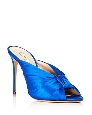 Casadei Women's Sophia Knot High-Heel Slide Sandals In Blue