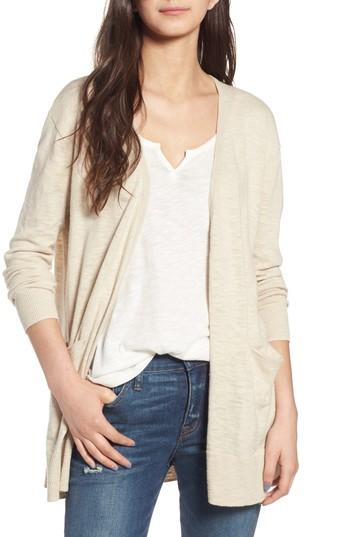 c4ab6937acf4 Madewell Summer Ryder Cardigan In Heather Oatmeal