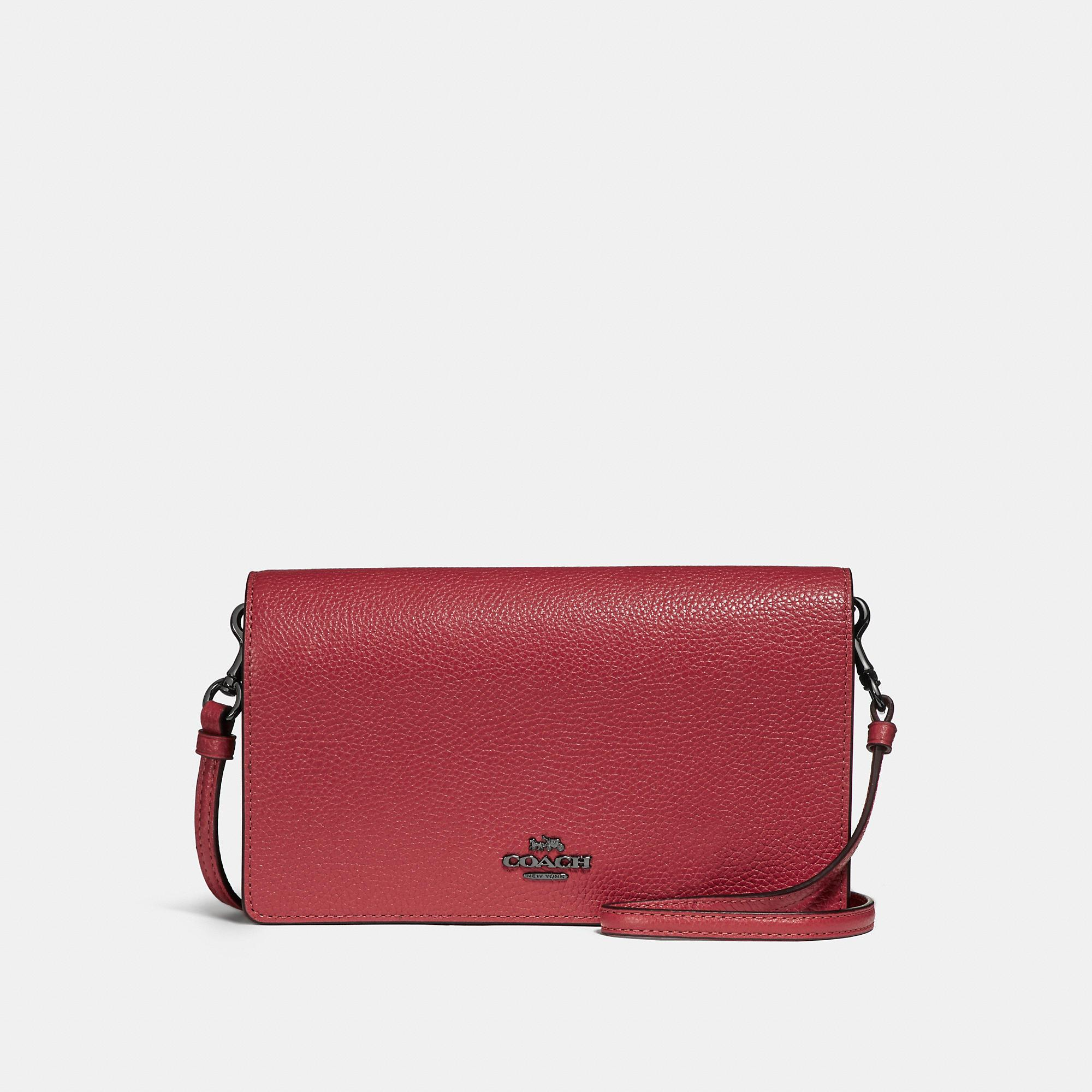 b1b70e2fb596 Coach Foldover Crossbody Clutch In Polished Pebble Leather In Light ...