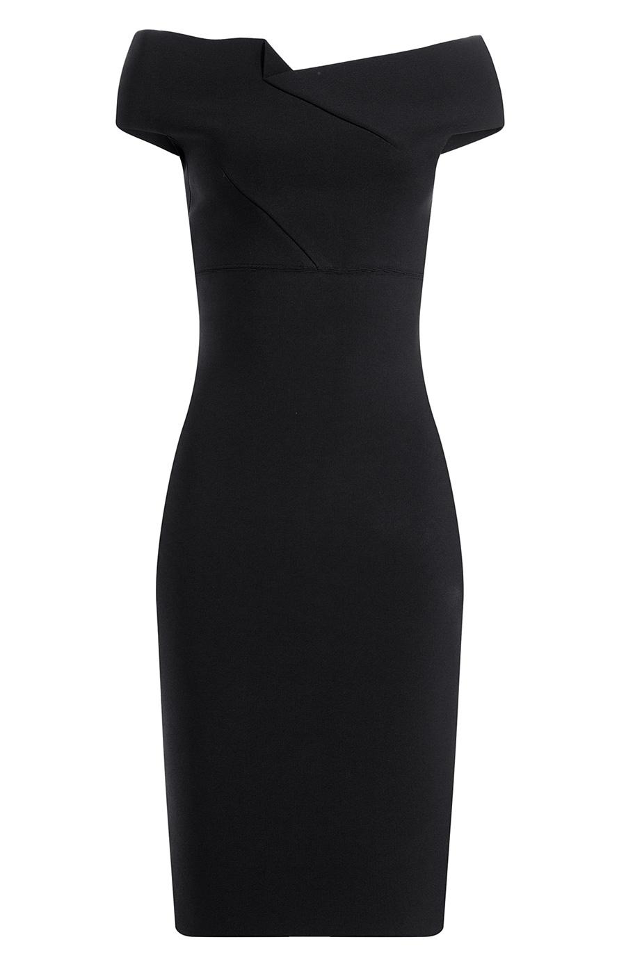 af3eff839dc Roland Mouret Belvedere Off-The-Shoulder Stretch-Knit Dress In Black ...