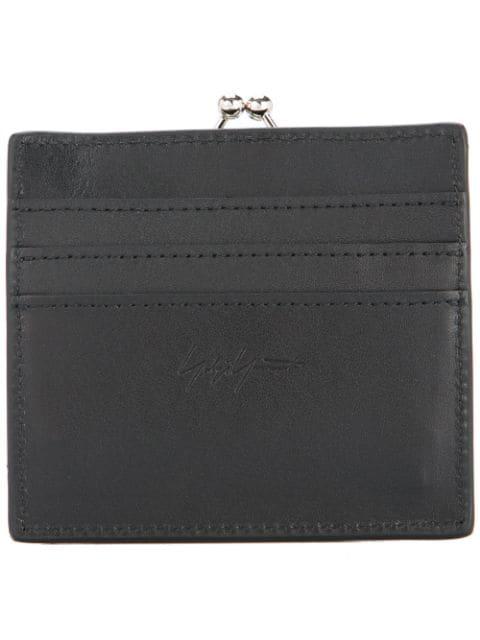 Yohji Yamamoto Clasp Wallet - Black
