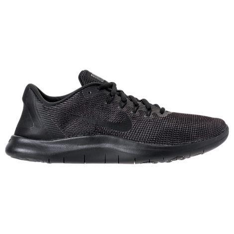 newest 02784 08e6e Nike Men s Flex Run 2018 Running Sneakers From Finish Line In Black