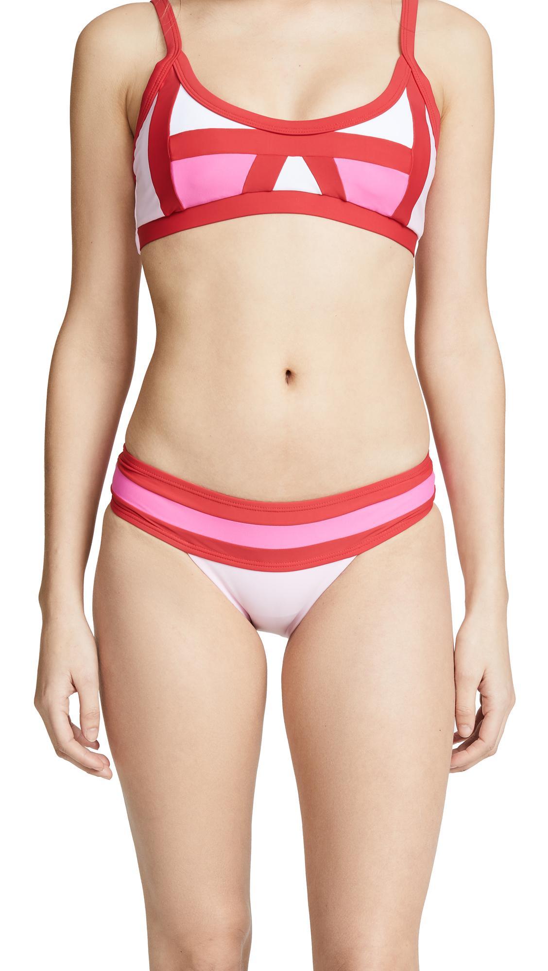 Color block bikini porn hot