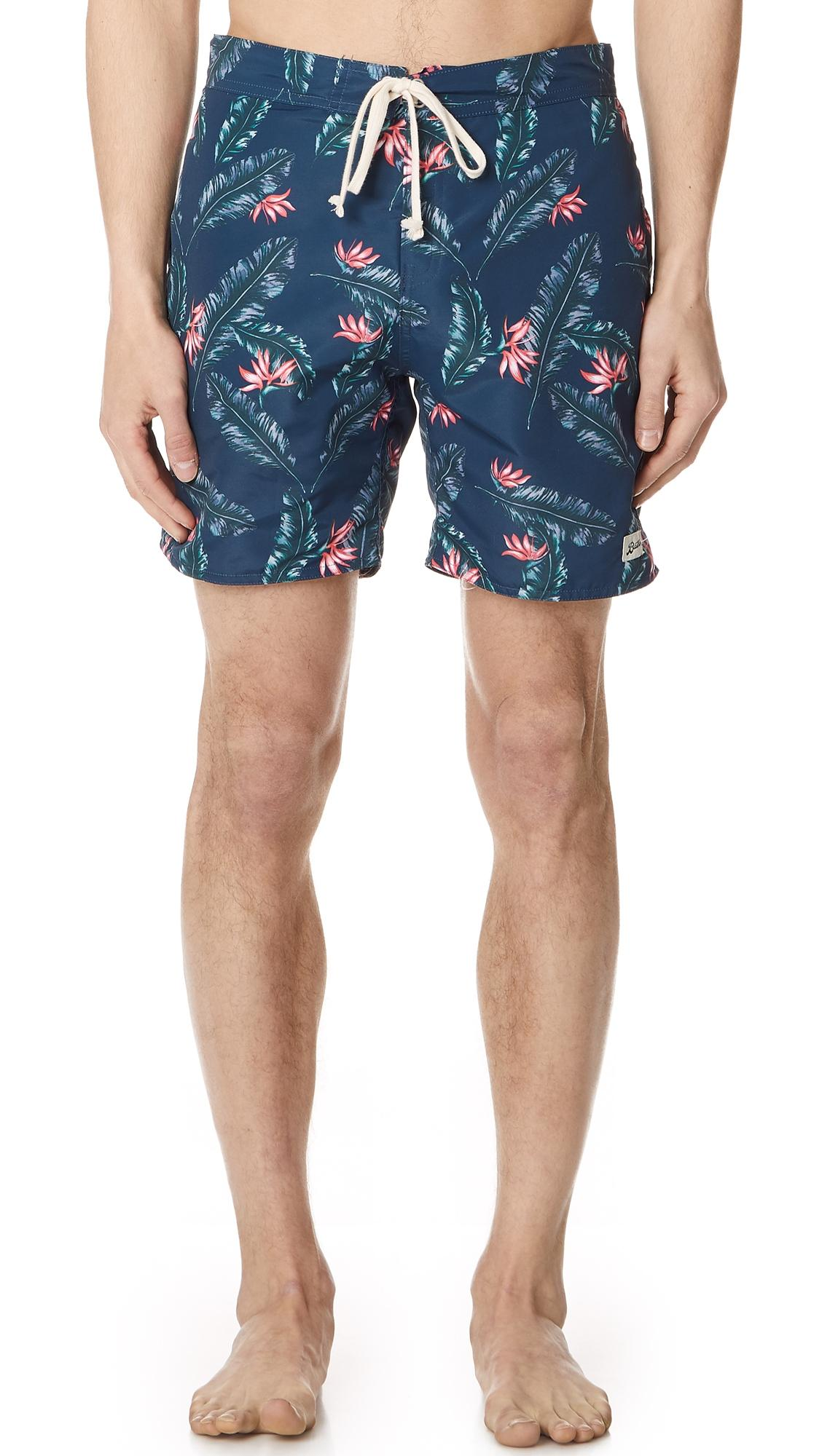 056bcc83ff Bather Birds Of Paradise Surf Trunks In Blue | ModeSens