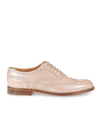 Church's Women's  Pink Leather Lace-Up Shoes