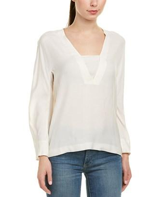 Sandro Preppy Top In White