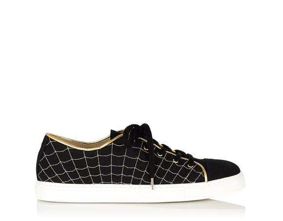 Charlotte Olympia Web Low Top Sneakers In Black