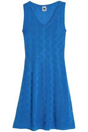 M Missoni Woman Crochet-Knit Wool-Blend Mini Dress Blue