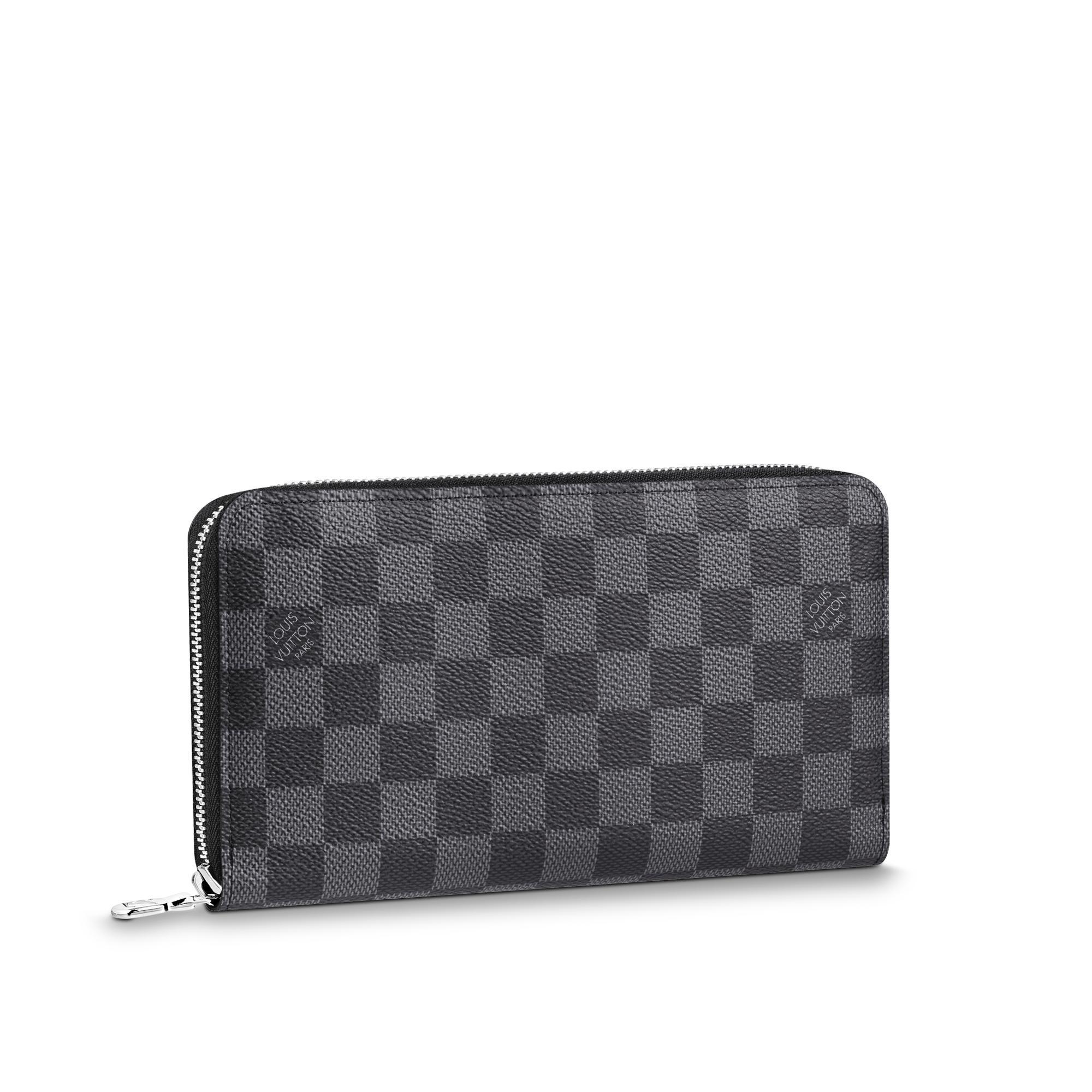fc552bfc80 Louis Vuitton Zippy Organizer In Damier Graphite Canvas | ModeSens
