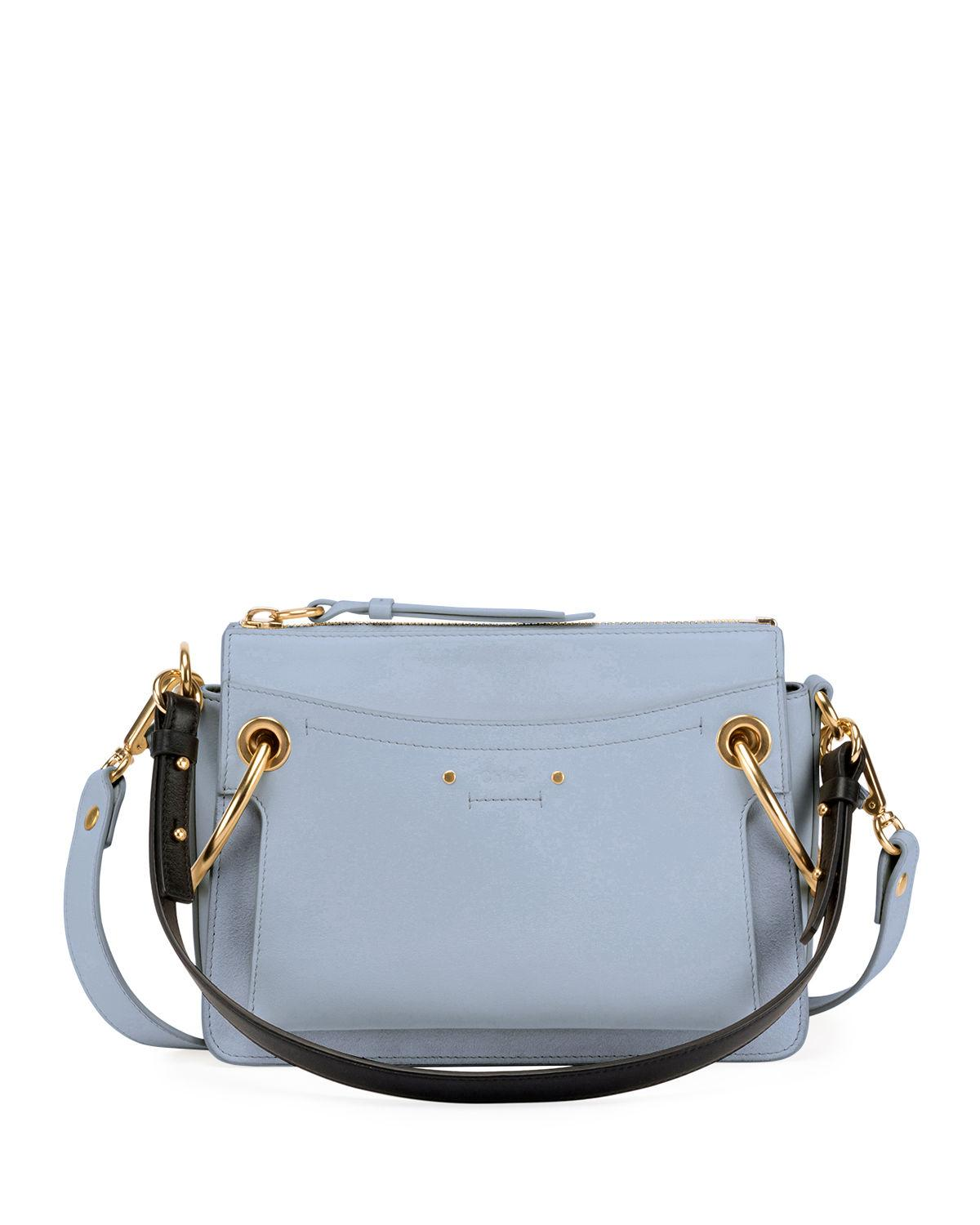 900e54e32eff Chloe shoulder bag in aniline-dyed calf leather and buffed suede. Flat top  handle. Removable