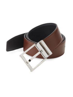 Salvatore Ferragamo Leather Belt In Tan