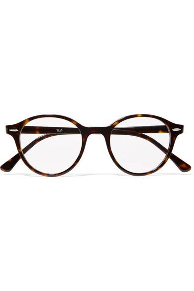 52a207be29 Ray Ban Dean Round-Frame Tortoiseshell Acetate Optical Glasses ...